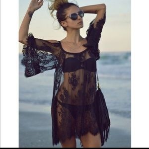 5-star 🐚RESTOCK Sexy Black Lace Beach Cover Up